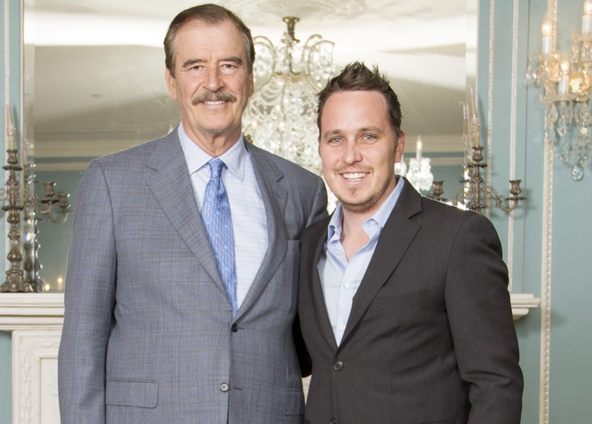 President Vicente Fox with Rowan Vansleve